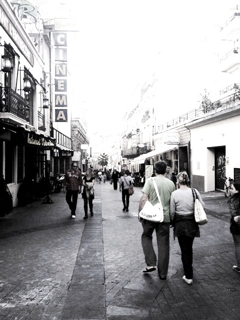 Rue de Verdun, an welcher sich die Schule Accent Français befindet