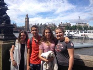 Unsere Studenten bei einem Ausflug nach London
