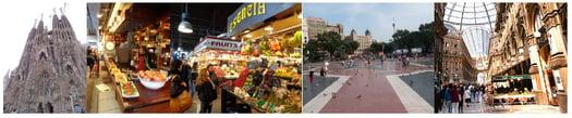 Impressionen der Stadt Barcleona von der Linguista Studienreise