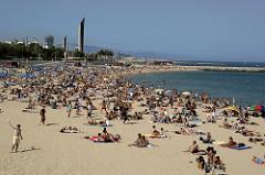Spanisch lernen Barcelona Strand