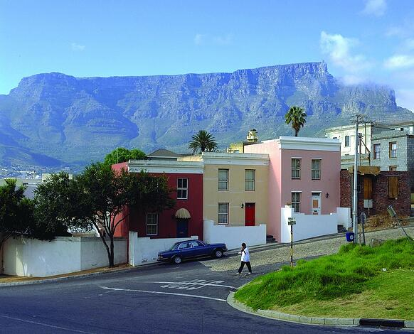 Die pastell-bunten Häuser sind aus dem Stadtbild Kapstadts nicht wegzudenken!