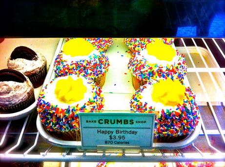 Crumbs - Einer der besten Orte für Cupcakes in New York. Böse sind nur ein wenig die Kalorienangaben ;)