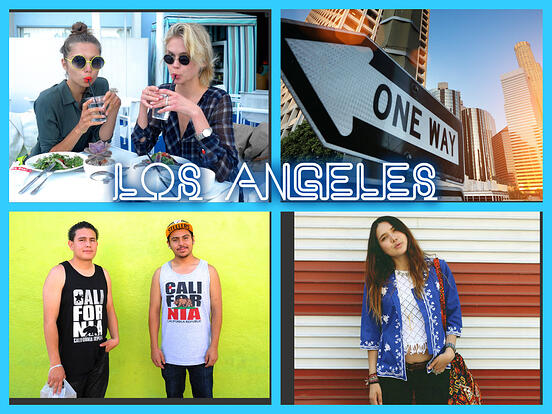 los angeles collage street style