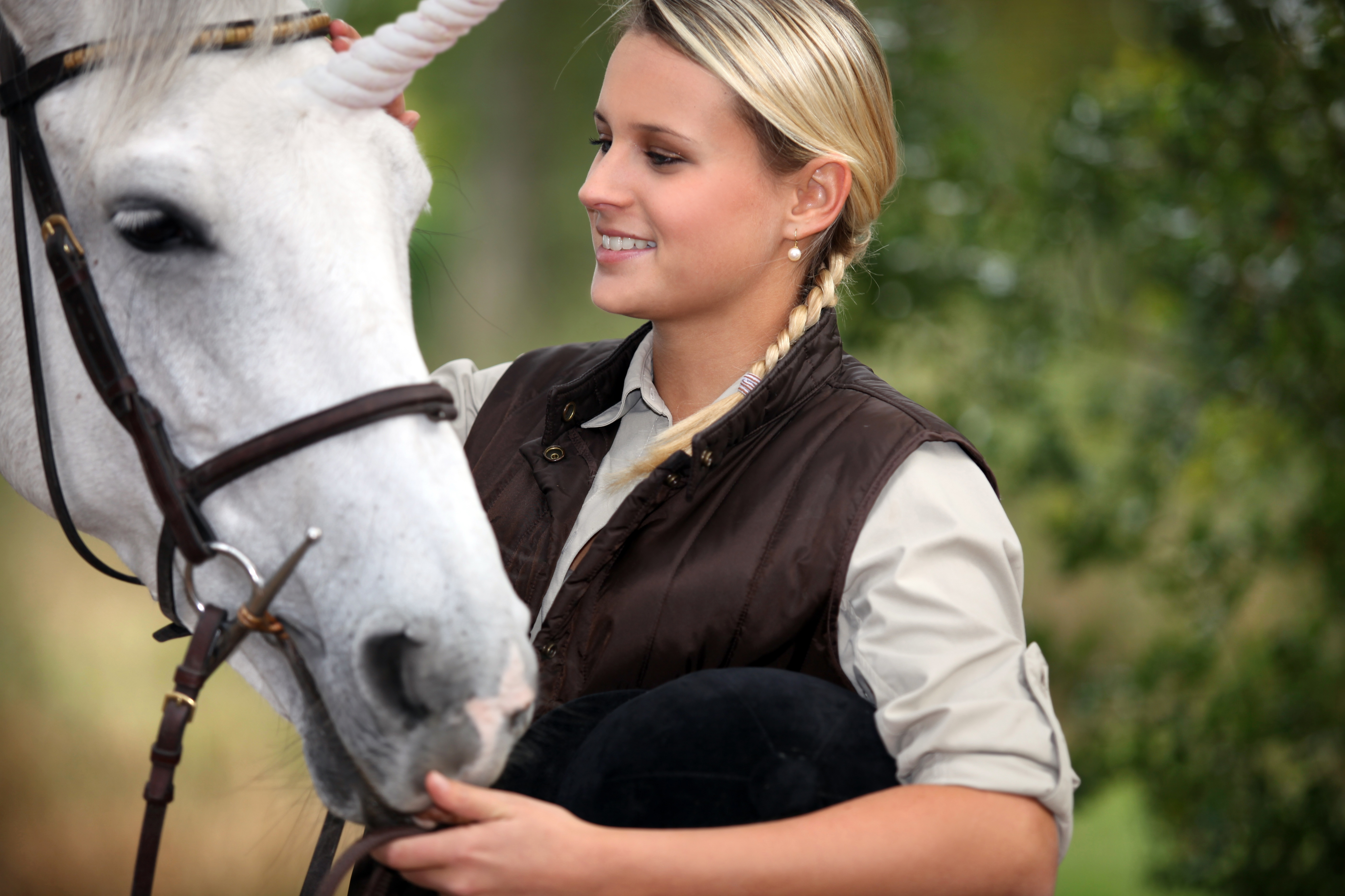 Pferd mit Frau