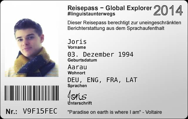 Global Explorer Joris ist seit 11.08 in Cambridge!