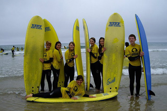 Englisch lernen und Surfen in Paignton und Noosa